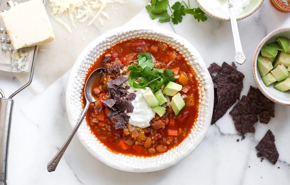 The BEST Vegetable & Quinoa Chili