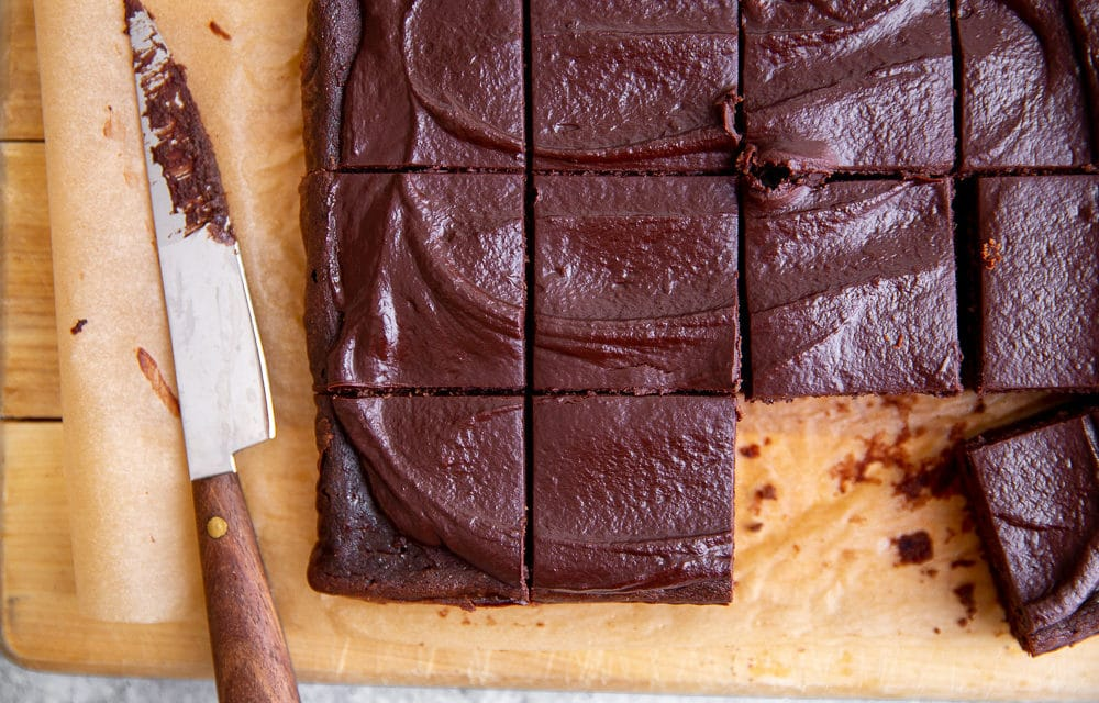 Fudgy Black Bean Brownies Recipe with Easy Cacao Frosting (GF, Naturally Sweetened)