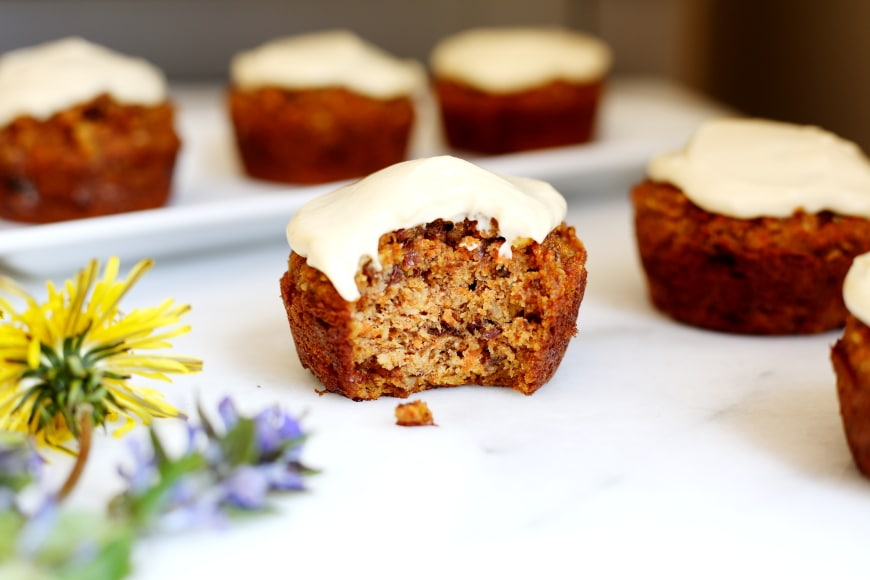 Easy to Make Breakfast Ideas for Mom - Carrot Cake Muffins