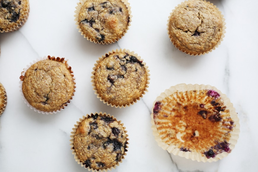 Easy to make breakfast ideas for mom - Blueberry Blender Muffins