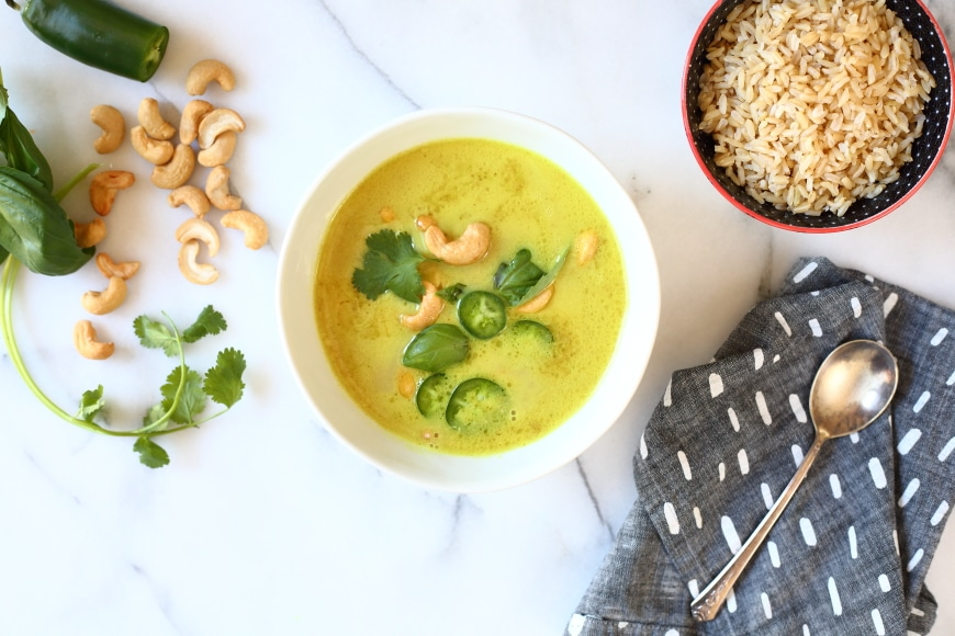 Coconut Cashew Curry Soup from Seriously Good Freezer Meals