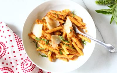No Cook Tomato Sauce with Toasted Almonds