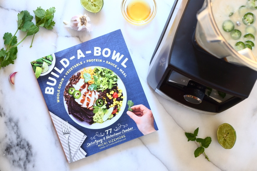 Build a Bowl book and Vitamix