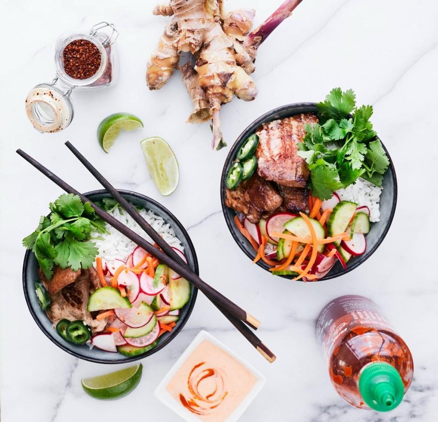 Pork Banh Mi Bowls from Build a Bowl