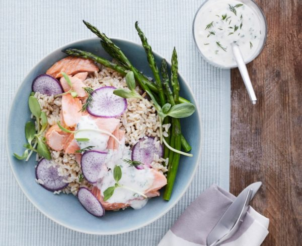 Roasted Salmon Bowls from Build a Bowl