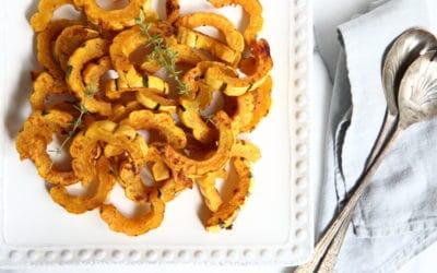 Maple Dijon Roasted Delicata Squash (plus serving ideas!)