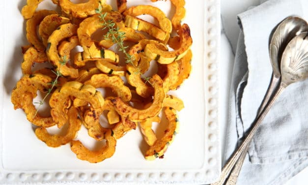 Maple Dijon Roasted Delicata Squash (plus serving ideas!)