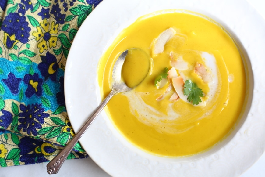 Gluten Free Recipes for Thanksgiving : Curried squash soup
