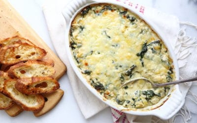 Warm Spinach and Artichoke Dip with Comté