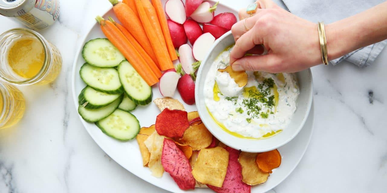 Easy Yogurt Feta Dip (For Veggies or Chips!)
