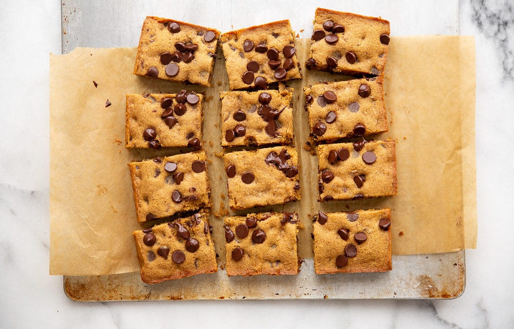 Chocolate Chip Cassava Cookie Bars (Gluten-Free, Paleo)