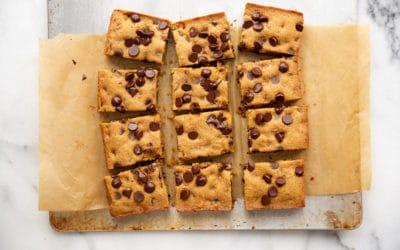 Chocolate Chip Cassava Cookie Bars (Gluten-Free, Paleo)