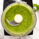 Green sauce in food processor