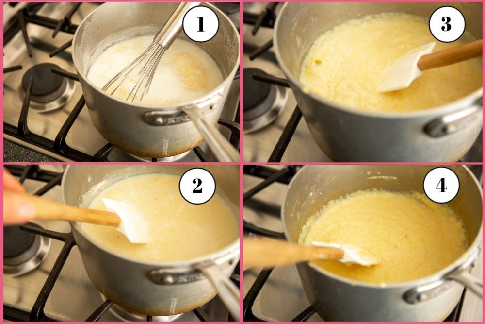Process of making grits from scratch in 4 steps
