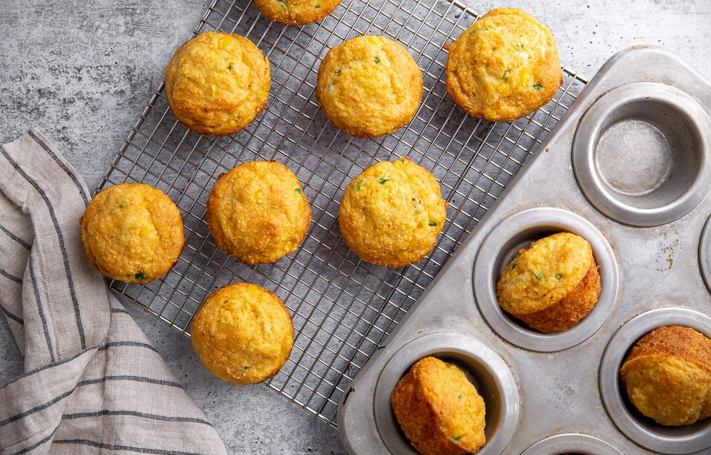 Jalapeño Cheddar Cornbread Muffins (Gluten-free option!)