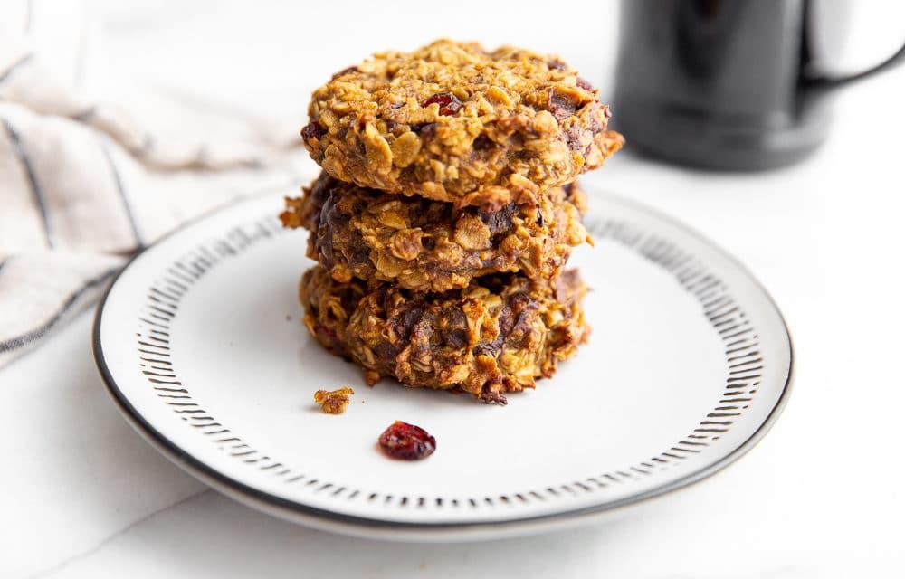 Healthy Pumpkin Breakfast Cookies (Gluten-Free & Vegan)