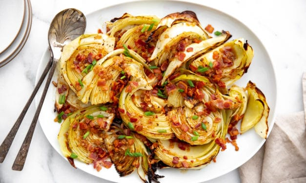 Roasted Cabbage Wedges (plus a Warm Bacon Vinaigrette!)